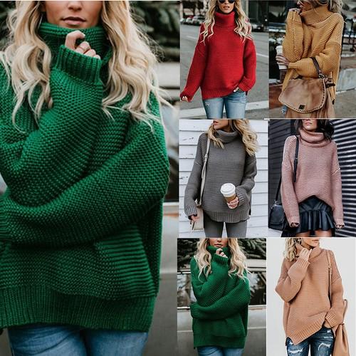 Women's Thick Thread Turtleneck Sweater