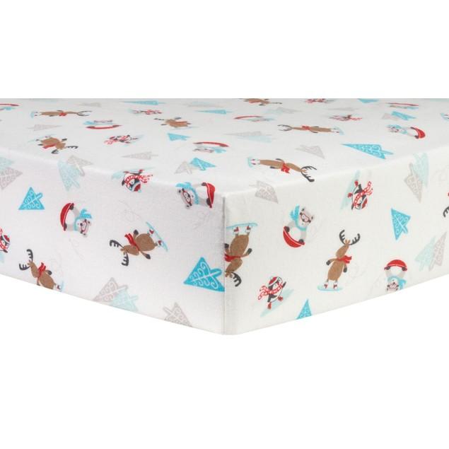 Trend Lab Frosty Fun Deluxe Flannel Kids Crib Sheet