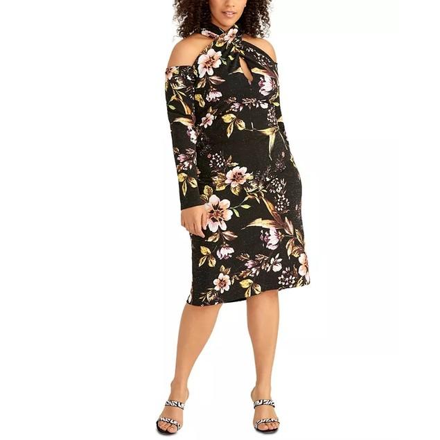 Rachel Roy Women's Trendy Crisscross Halter Dress Black Size Petite Small