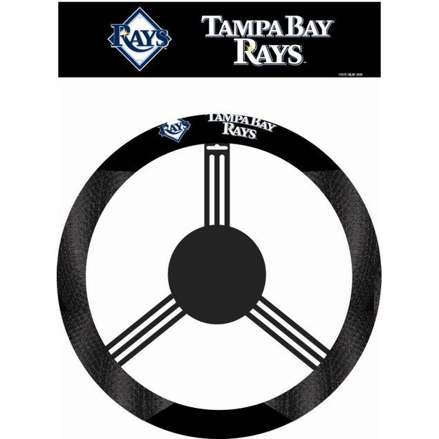 Tampa Bay Rays Steering Wheel Cover MLB Baseball Team Logo Poly Mesh