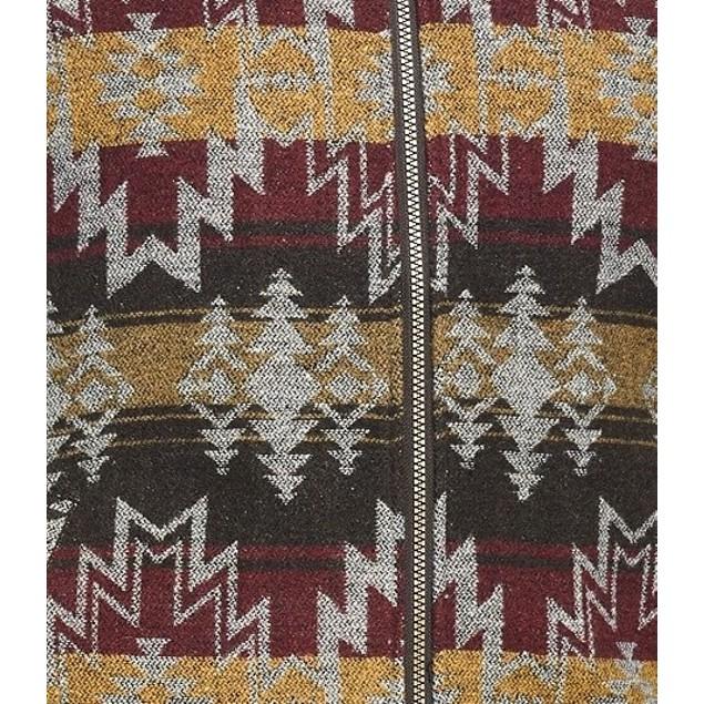 Weatherproof Vintage Men's Aztec Vest Brown Size Large