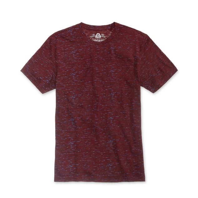 American Rag Men's Textured T-Shirt Purple Size X-Large