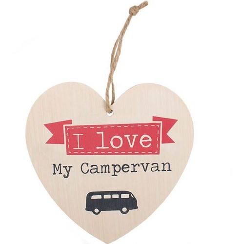 Love My Campervan Heart Plaque