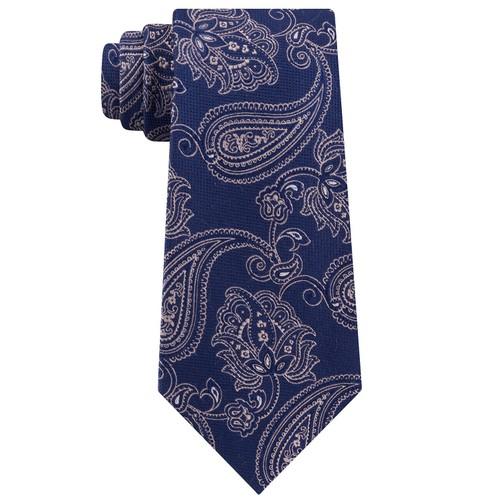Michael Men's Kors Paisley Neck Tie Navy Size Regular