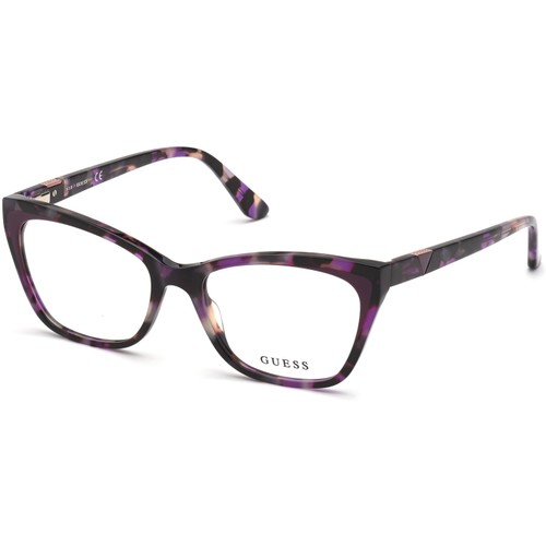 Guess Womens Eyeglasses GU2811V 083 Havana purple 54 17 140 Frames Cat Eye