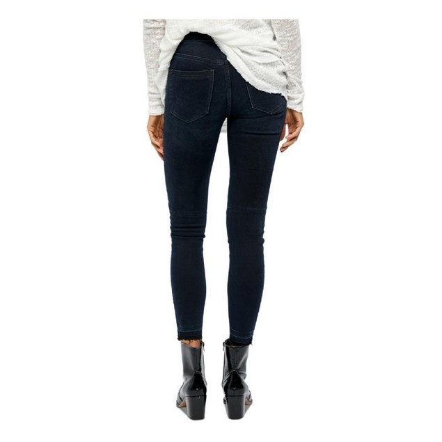 Free People Women's Pocketed Zippered Jeans Navy Size 29