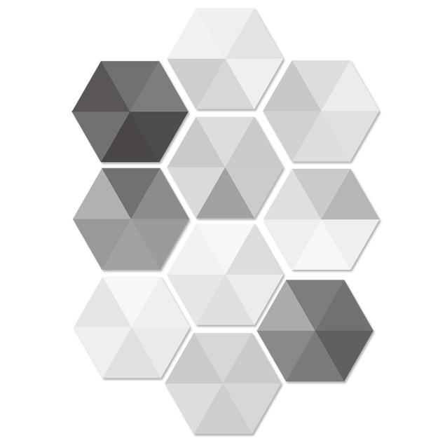 10pcs/lot Waterproof Hexagon Stickers DIY Tile Self Adhesive