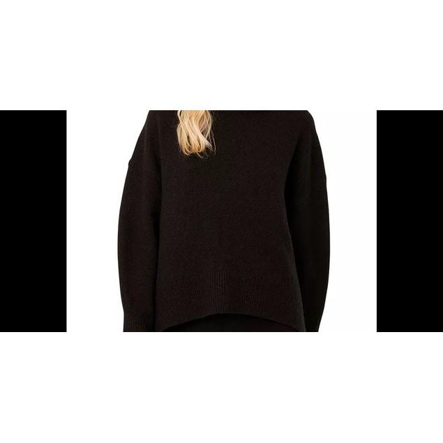 French Connection Women's Nina Knits Turtleneck Sweater Black Size Medium