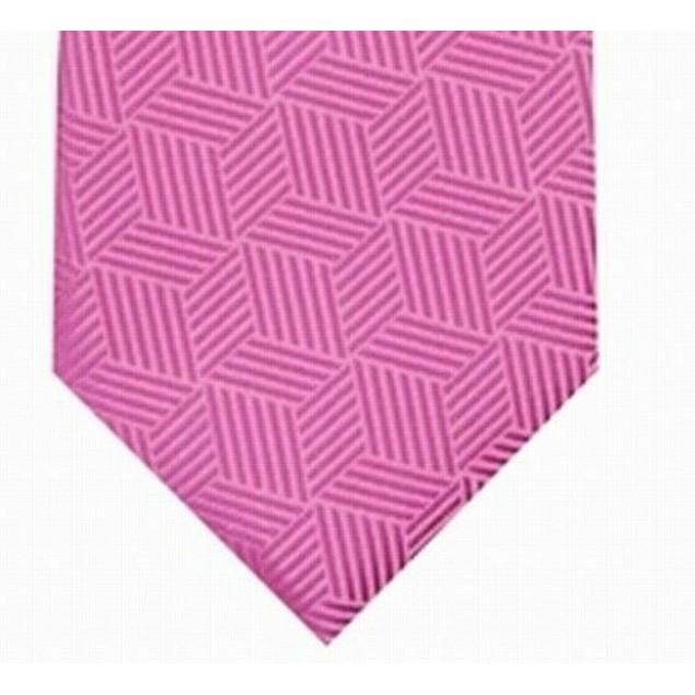 Alfani Men's Geometric Tie Pink Size Regular
