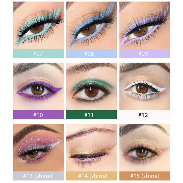 20 Packs Of Quick-drying, Waterproof And Non-bleeding Color Eyeliner