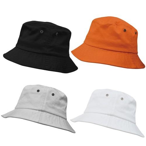 Unisex Cotton Wide Brim Bucket Hat