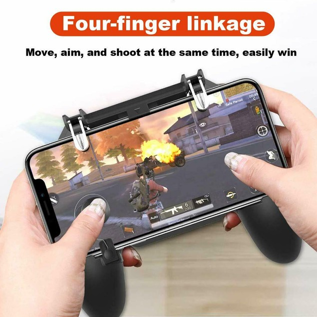W11+ PUBG Mobile Phone Game Controller Gamepad Wireless iPhone Android