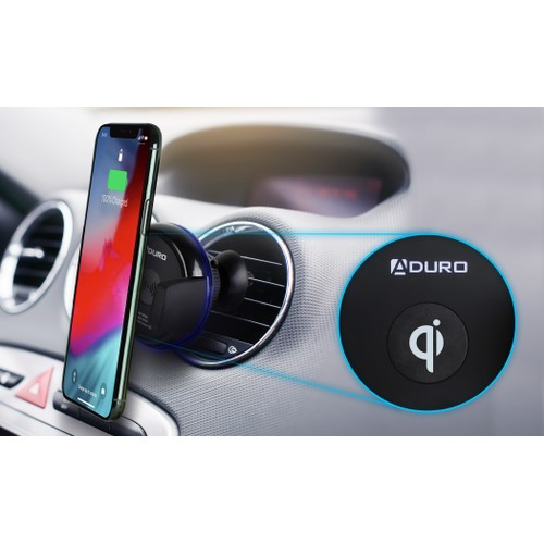 Aduro Wireless Car Charger & Mount for Qi Enabled Phones