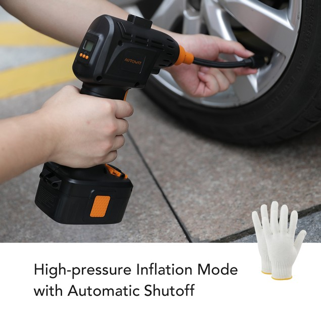 Autowit Cordless Tire Inflator Portable Handheld Air Compressor