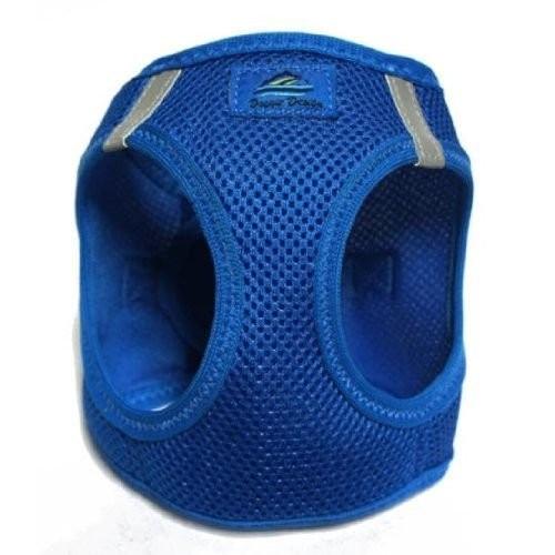 American River Choke Free Reflective Dog Harness, Blue, Medium