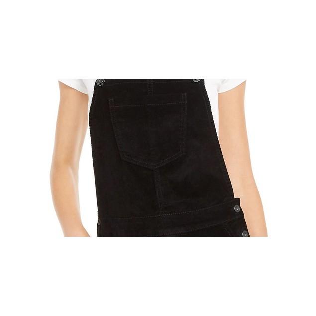 Vanilla Star Junior's Corduroy Overalls Dress Black Size 11