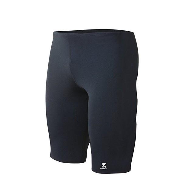 TYR Men's Durafast Elite Solid Jammer Swim Suit  SZ (Black, 36)