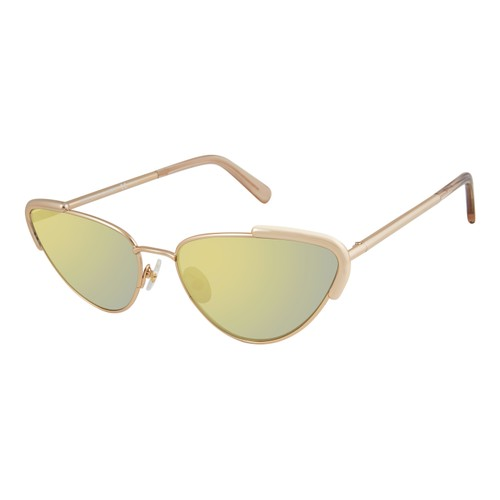 Rebecca Minkoff Women Sunglasses RMINDIO1S Light Gold Cat Eye/Butterfly Mirrored