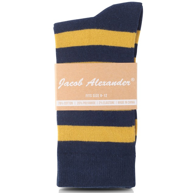 Jacob Alexander Matching College Stripe Suspenders Dress Socks and Tie