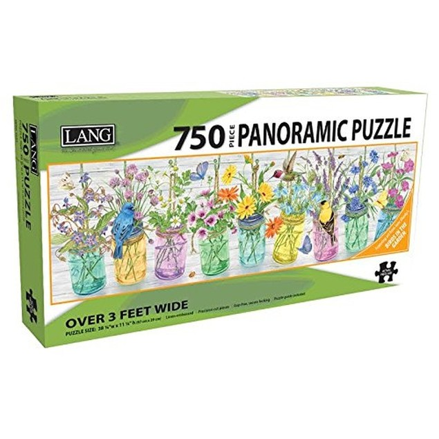 Herb Jar 750 Piece Panoramic Puzzle, 750 Piece Puzzle by Lang Companies