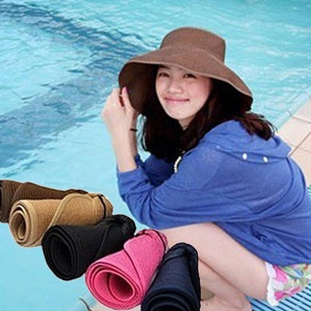 Lightweight Foldable Straw Hat - 5 Colors