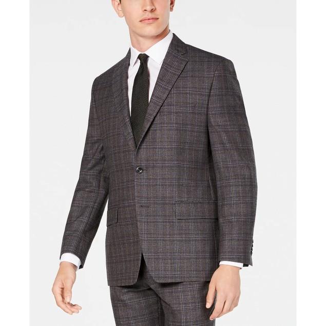 Michael Kors Men's Classic Fit Airsoft Stretch Suit Jackets Gray Size 42
