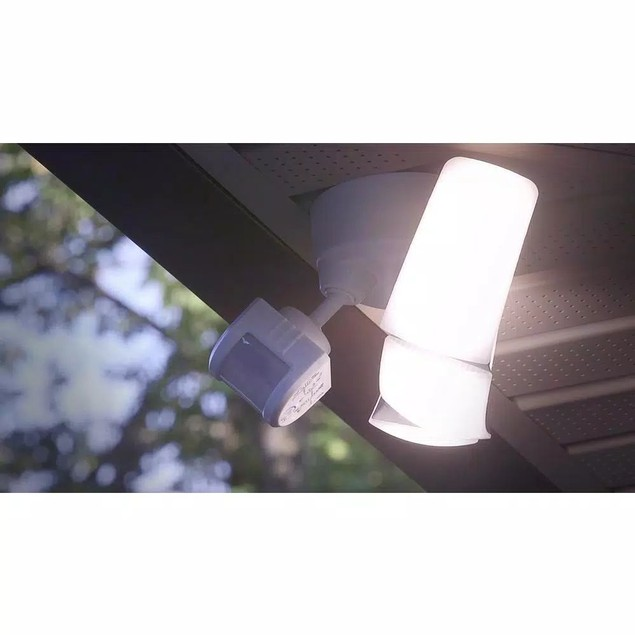 Defiant 270° White Motion Activated Outdoor LED Triple Head Flood Light