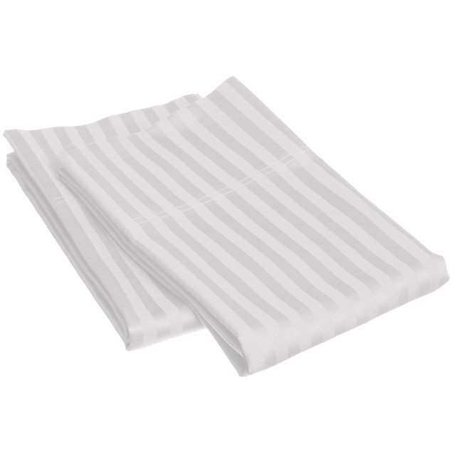 Striped Pillowcases Wrinkle Free Microfiber, 2-Piece Set Covers