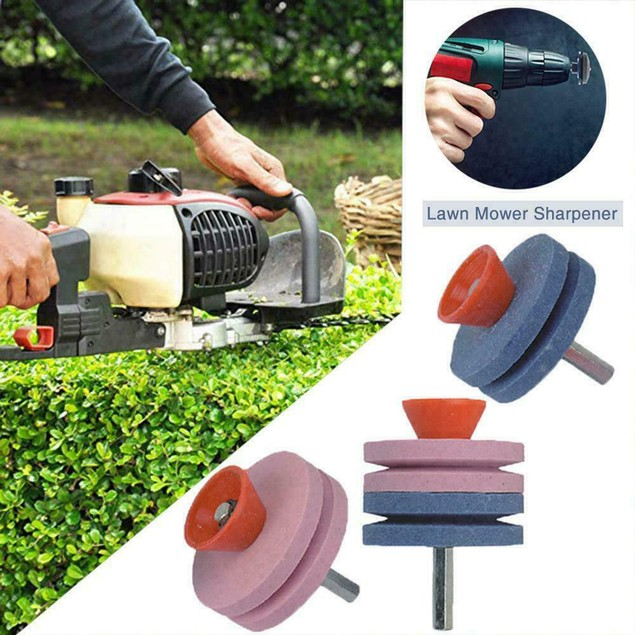 Electric Drill Lawn Mower Grinding Machine Trimmer Sharpen Tool