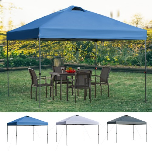 10' x 10' Outdoor Pop Up Canopy Tent Gazebo w/ Adjustable Legs and Bag Grey