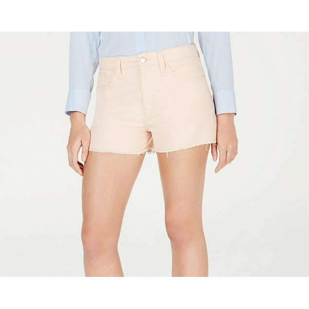 Tinseltown Juniors' Frayed Denim Shorts Pink Size 7