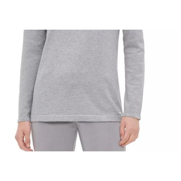 Calvin Klein Women's Grommet Trim Top Grey Size Large