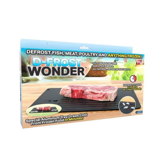 D-Frost Wonder Aluminum Quick-Defrosting Tray- As Seen On TV!