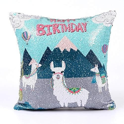 Pillow Case Reversible Sequin Pillow Cover Sequins Decorative Cushion