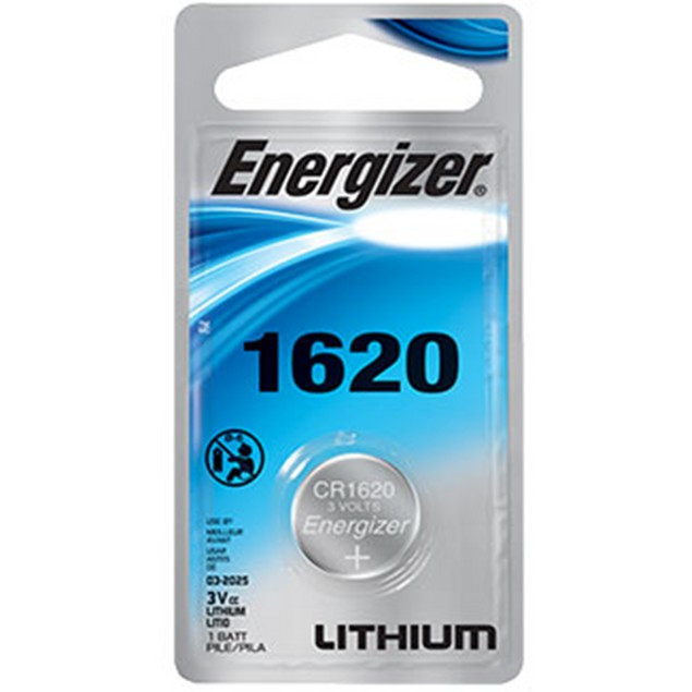 Energizer CR1620 Lithium Coin Cell Battery (1 Battery)