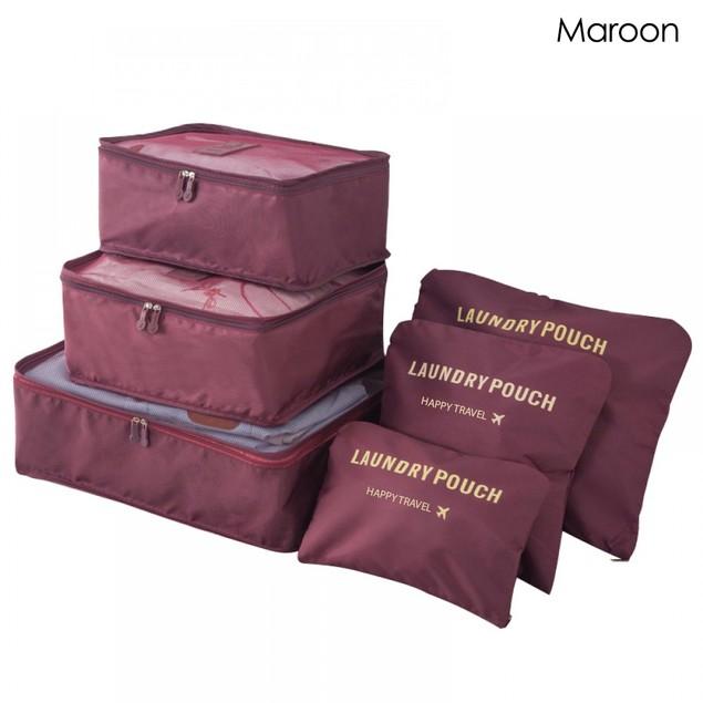 6 Piece Travel Bag Set - 4 Colors
