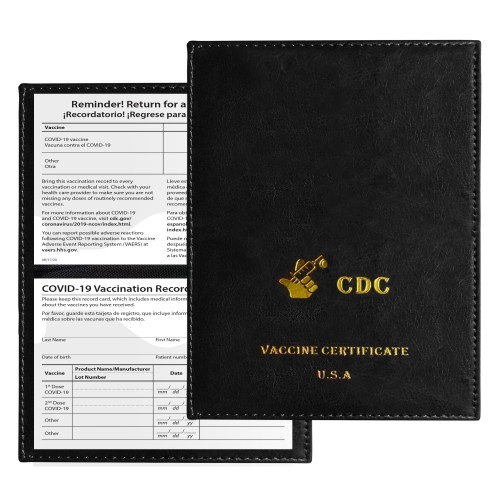3-Pack: CDC Vaccination Record Holder
