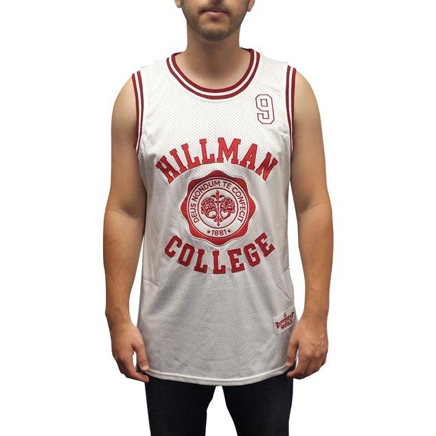 Dwayne Wayne #9 Hillman White Basketball Jersey