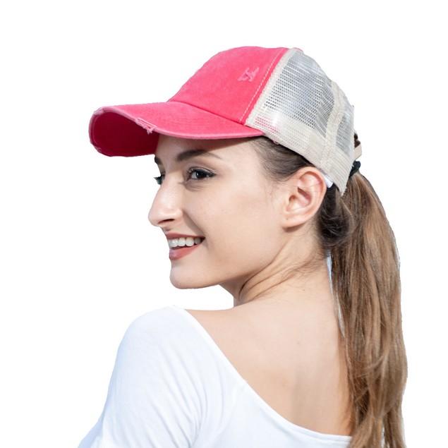 Distressed Outdoor Sun Hat Solid Color Cap Cross