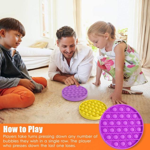 4-Pack Bubble Pop Sensory Fidget Toy(Orange, Purple, Green, Yellow)