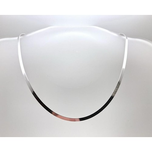Italian Sterling Silver Herringbone Chain - 3 Sizes