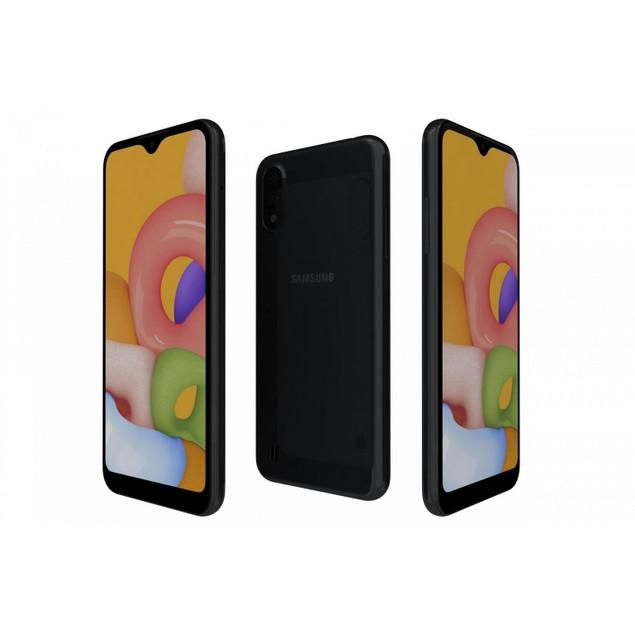 Samsung Galaxy A01, Unlocked, Black, 16 GB, 5.7 in Screen