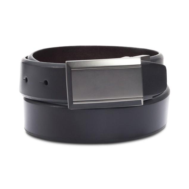 Kenneth Cole Reaction Men's Beveled Reversible Belt Charcoal Size Regular