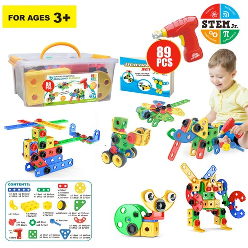 Zummy  Educational Construction Building Sets Toys for Kids  ( 89 Pieces )