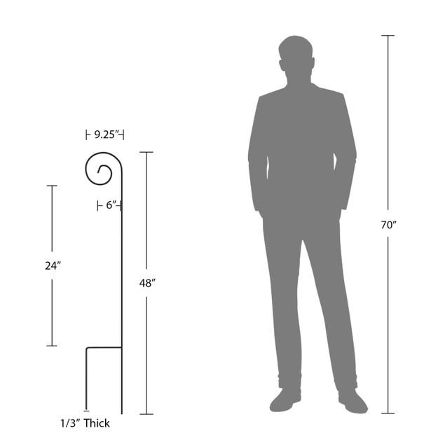 Shepherd Hooks-Set of 2-Metal Pole with Hooks 48 in.