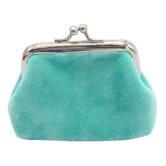 Womens Corduroy Small Wallet Holder Coin Purse Clutch Handbag Bag