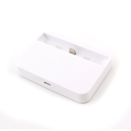 8 Pin USB Data Sync Docking Station Charger for iPhone - Black or White