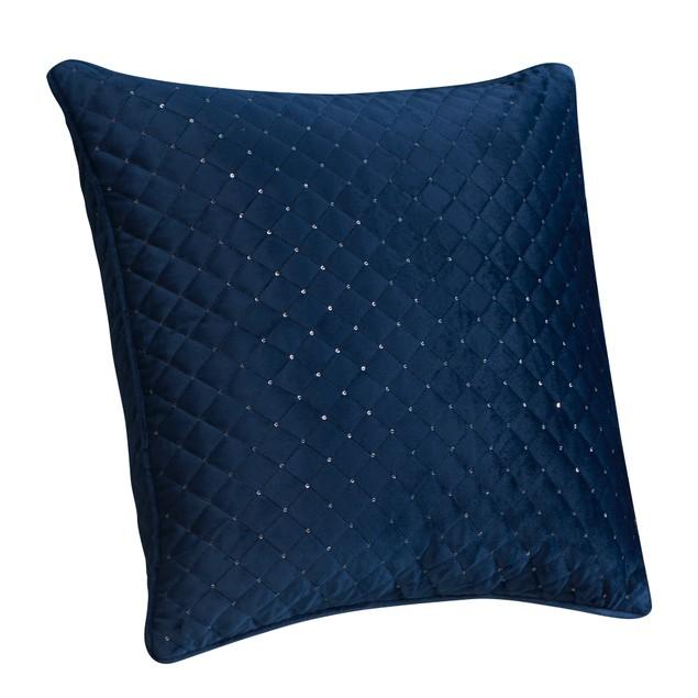 2-PACK Velvet Design Sequin Quilted Decorative Throw Pillow Case