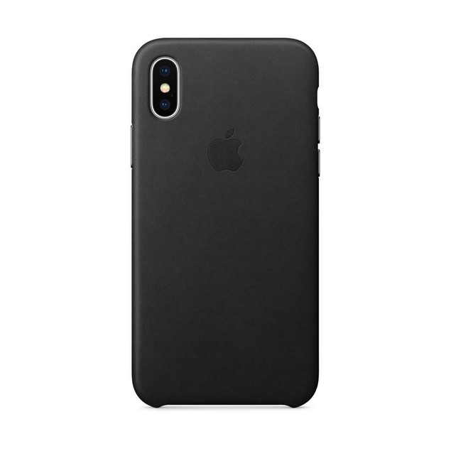 Genuine Apple iPhone X Leather Case, Black