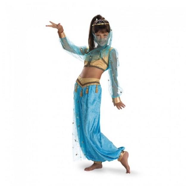 Mystical Genie Child Costume Jasmine Aladdin Disney Youth Halloween